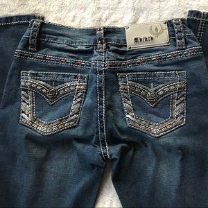 Adiktd Embellished Dark Wash Jeans - 26